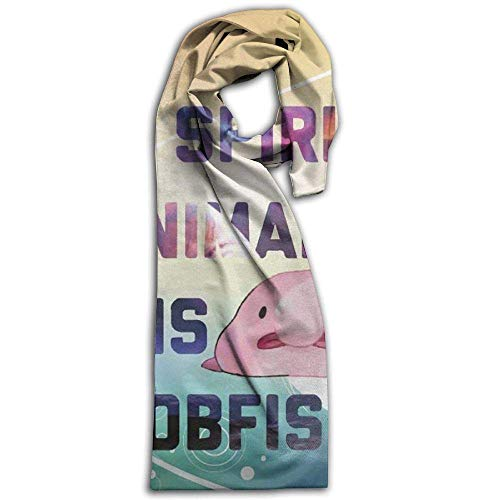 PIHJE My Spitit Animal Blobfish ScarfWinter Scarf Long Shawl Warm Shawl For Men Women Blanket Lightweight Scarves