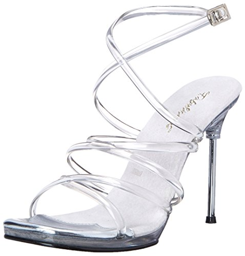 07 Clear Sandal Dress Fabulicious Chic Women's 6wxnTqxa7