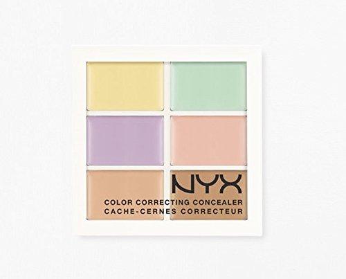 N Y X Color Correcting Concealer Palette 3CP04 size: 6* 0.05 oz/ 6* 1.5 g
