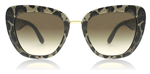 Dolce & Gabbana Women's Acetate Woman Square Sunglasses, Leoprint, 53 - D&g Sunglasses Cat Eye
