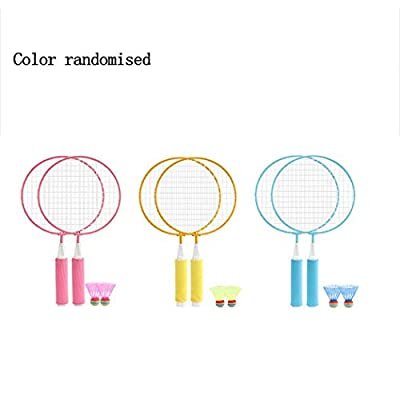 OYTRO 1 Pair Children Badminton Rackets Toy with 2 Shuttlecocks Sports Toy Set Gift Swings: Home & Kitchen