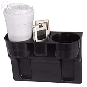 Plastic Cup Holder and Organizer for Cars - Black