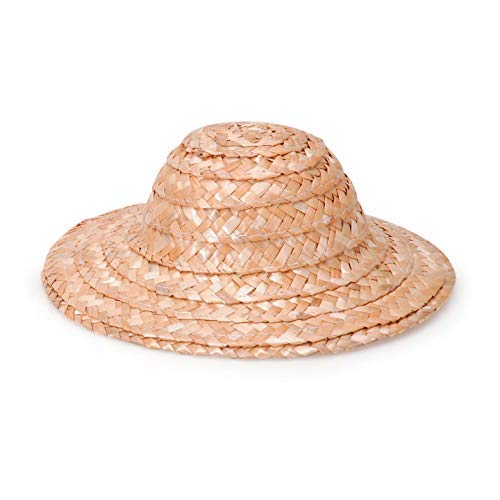 Bulk Buy: Darice DIY Crafts Straw Hat Round Top Natural 8 inches (12-Pack) 2803-63