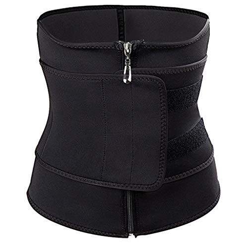 Hffan Saunaanzüge für Damen Corsage Korsett Bauchweg Training Taillenkorsett abnehmen Shirt Taillenformer Fitness Taillenmieder für Gewicht Loss, Figurformender Damen-Body Gewichtsreduzierung