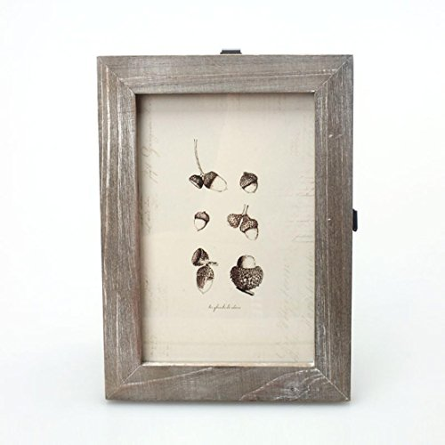 WONOUS Photo Frame, Retro Vintage Photo Frame Home Decor Wooden Wedding Tabletop Pictures Frames Holder, 8.47