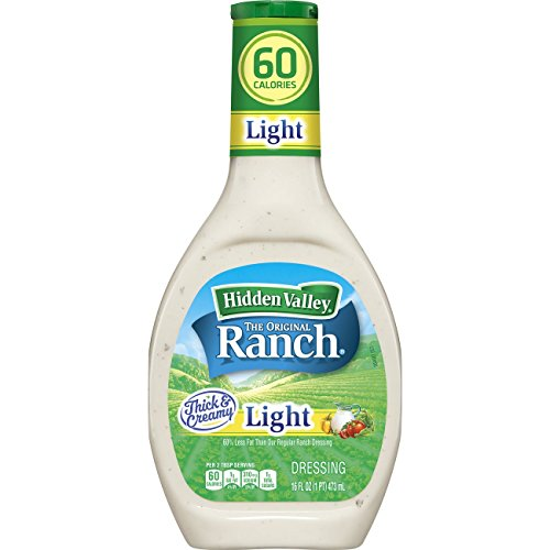 (Hidden Valley Original Ranch Light Salad Dressing & Topping, Gluten Free - 16 Ounce Bottle)