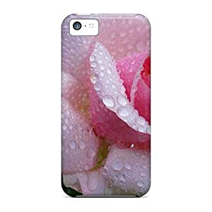 New Premium CvAYLux8376YfRdS Case Cover For Iphone 5c/ Beautifully Pink Rose Protective Case Cover