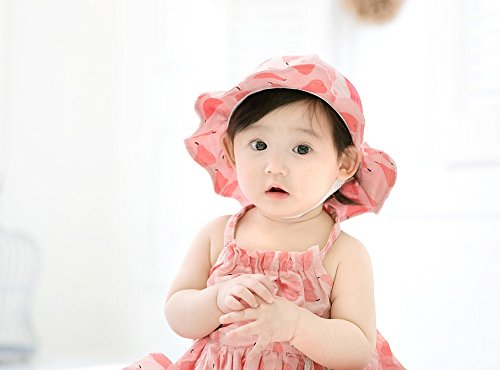 GZMM Baby Girls Sun Protection Hat Cotton Breathable Material UPF50+(6-12M) by GZMM (Image #3)