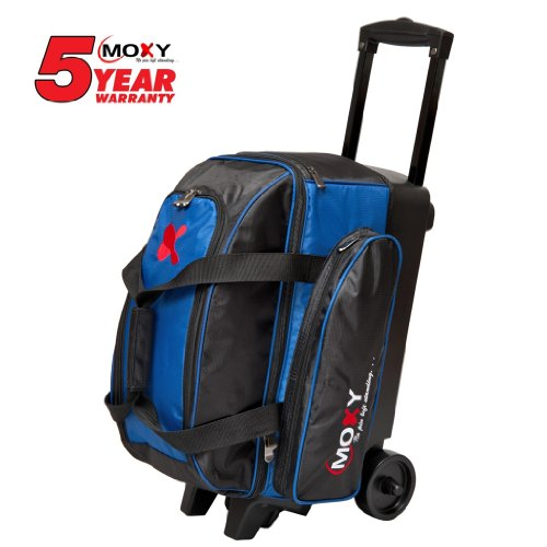 Moxy Double Roller Bowling Bag- Royal/Black
