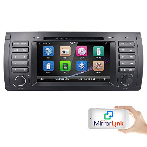 in Dash GPS Radio Stereo 7 Inch 1 Din Multimedia Touch Screen Bluetooth 4.0 Sub Volume Control Car Stereo with GPS and Bluetooth ()