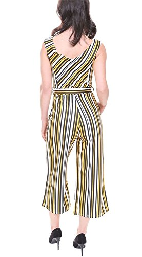Orange Sleeveless Woman Stripe Combination 21Fashion gqnw01aT