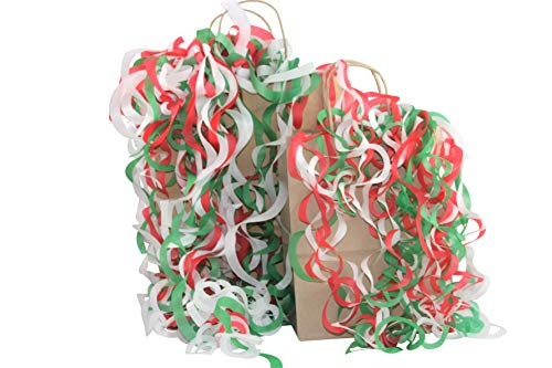 - Tissue Shred Filler for Gift Bags Baskets - 3 Each Large and Jumbo (Holiday Red/Green/White)