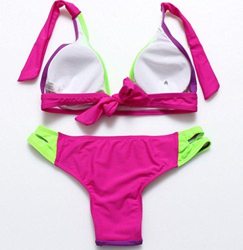 KUWOMINI. Triángulo De La Manera Atractiva De Las Correas Del Arnés Del Bikini GreenViolet