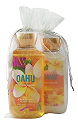 Bath & Body Works Oahu Coconut Sunset Gift Set Bundle of 2 Items: Show Gel and Body Lotion