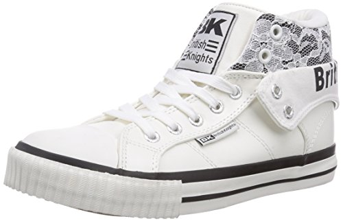 British Knights Roco Damen Hohe Sneakers Weiß (Wht-Black 22)