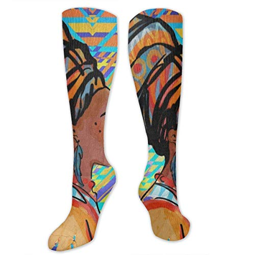 Stretch Socks Beautiful African Woman with Earring Designer Winter Warmth for Women & Men Travel