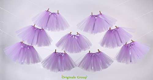(Originals Group Tutu Table Skirt,Baby Pink Tulle Tutu Table Skirt Decor, Birthday Event Wedding Party Decoration (Mini Lavender Tutu Garland))