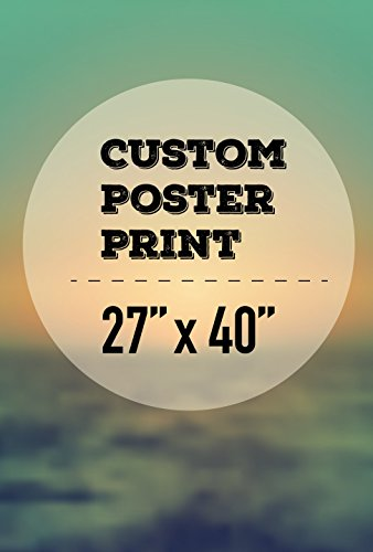 wall26 Custom Poster Print - Create Your Own Movie Poster - Personalized Gloss Paper Poster (27x40)