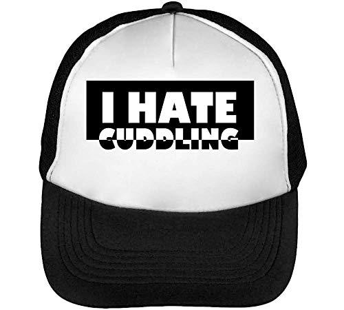 Cuddling Blanco Negro White Beisbol Black Gorras I Snapback Hombre Slogan Hate zpvP5nqwx