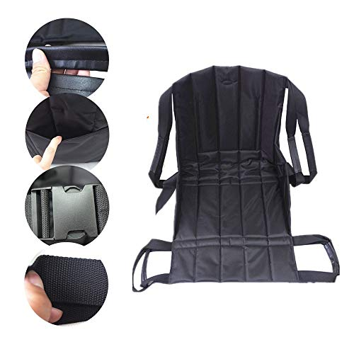 GxYue Foldable Wheelchair Transfer Seat Pad - Transfer Belt for Transferring Patient from Wheelchair to Bed,Bathtub,Toilet,Car Seat Belts
