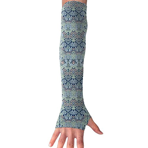 William Morris Iron (William Morris Bluebell Columbine Long Sleeve Sun Protection Arm Sleeves Arm Cooling Sleeve Cycling Outdoor Sports Leisure)