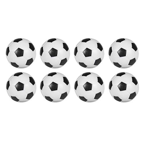 (Sunfung Table Soccer Foosballs Replacement Balls Mini Black and White 36mm Official Foosball 8)