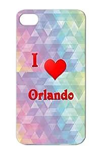 Love Orlando I Heart Hearts Love Red Case Cover For Iphone 4 TPU Orlando 21