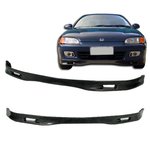 (92-95 Honda Civic 2/3 Door Spoon Style Add-On Front Bumper Lip Urethane)