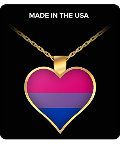 Collar con Colgante de Bandera Bisexual Pride
