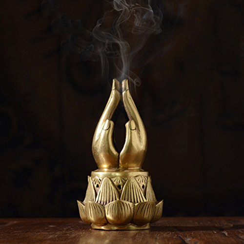 DW&HX Thai Style Bergamot Spa Antique Fine Copper Incense Burner Zen Decoration Home Creative by DW&HX