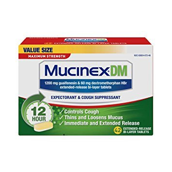 Mucinex DM 12 Hr Max Strength Expectorant & Cough Suppressant Tablets, 42ct - Pack of 6