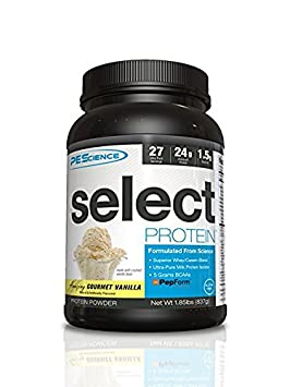 PEScience – Select Protein – Whey Casein Protein Powder Supplement Blend – 27 Servings Gourmet Vanilla