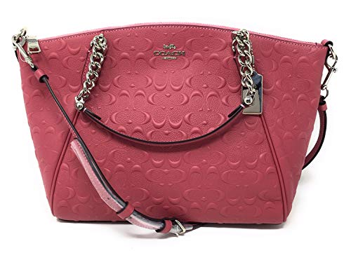 Coach Satchel Signature (COACH F49317 SMALL KELSEY CHAIN SATCHEL IN SIGNATURE LEATHER STRAWBERRY)