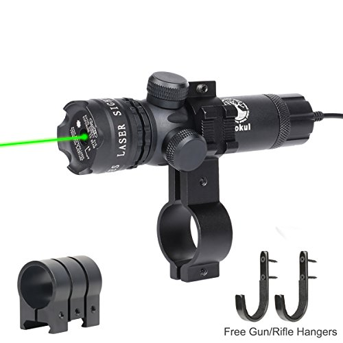 Vokul-Shockproof-532nm-Tactical-Green-Dot-Laser-Sight-Rifle-Gun-Scope-w-Rail-Barrel-Mount-Cap-Pressure-Switch