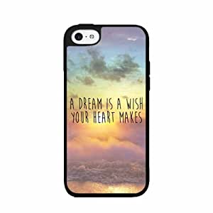 A Dream Is A Wish Your Heart Makes - Plastic Phone Case Back Cover (iPhone 5/5s)