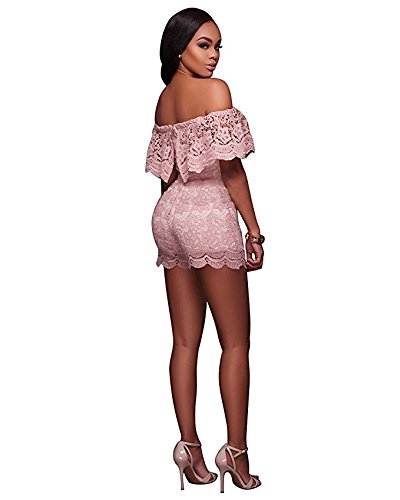 Conjunto Mono Mujer IHRKleid® Encaje Stomacher Vestidos de fiesta Pantalones cortos Elegante Mono: Amazon.es: Ropa y accesorios