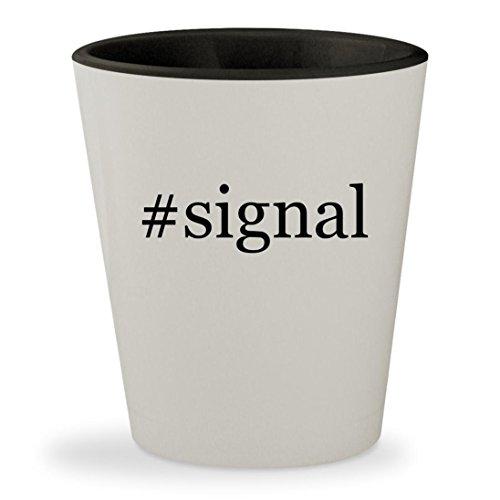 Internet Gsm Cell (#signal - Hashtag White Outer & Black Inner Ceramic 1.5oz Shot Glass)
