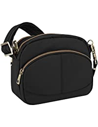 Anti-Theft Signature E W Shoulder Bag, Black, One Size