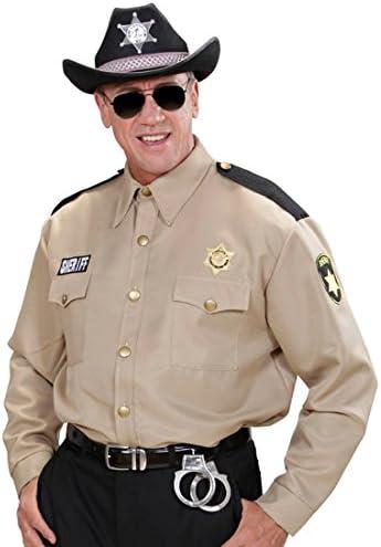 Amakando Camisa de Sheriff - M/L (ES 50/52) | Camiseta de Shérif | Camisa de Policía | Camiseta Policial: Amazon.es: Juguetes y juegos
