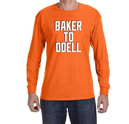 - Tobin Clothing Orange Cleveland Baker to Odell Long Sleeve Shirt Adult Large