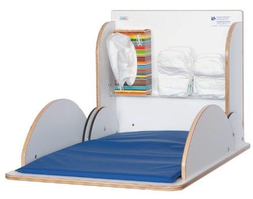 Wickeltisch aus hochwertigem Holz mit HPL-Beschichtung erhältlich in vier Farben, Farbe:Weiß