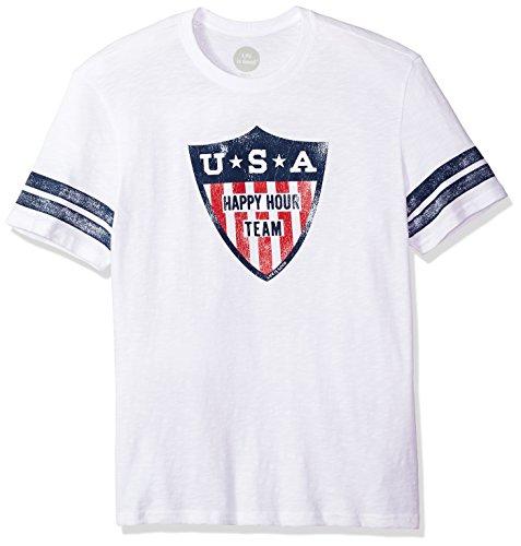 Life is good Men's Vintage Sport Happy Hour Team Cldwht T-Shirt, Cloud White, X-Large (T-shirts Vintage Sports Team)
