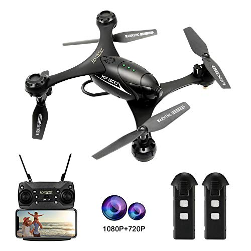 HScopter 1080P Camera Drone,WiFi FPV Drone with Camera for Adults Kids, RC Toy Quadcopter with Altitude Hold,One Key Take Off/Landing,Lost-Control Protection,Ideal Present Gift for Birthday