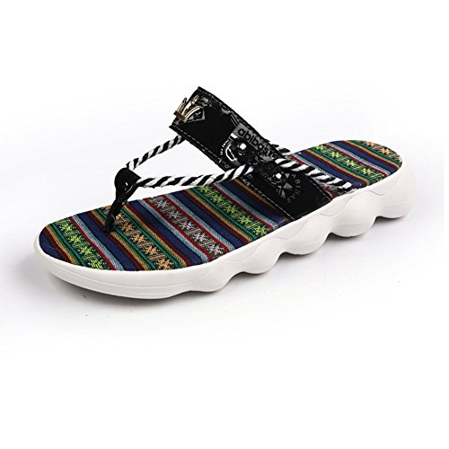 Accogliente Di dimensioni Blu EU43 Pantofole Gomma Nero Sandali Colore Da Spiaggia Scarpe Traspirante UK9 Rosso Blu QIDI Nero Maschi Indossare wapt5Zq