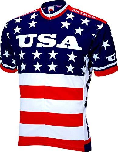 World Jerseys 1979 Team USA Cycling Jersey Men's Medium Short Sleeve