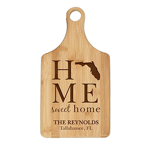 Personalized State Pride Bamboo Cutting Board - Florida, 7