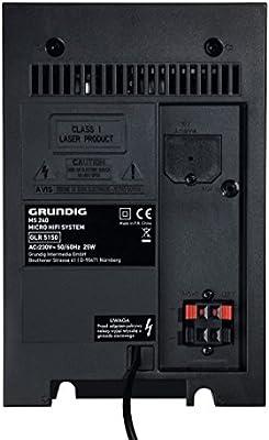 Grundig MS 240 - Microcadena (Micro set, Negro, De 2 vías, 8 Ohmio ...