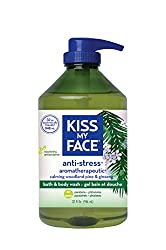 Kiss My Face Anti-stress Bath & Shower Gel, Moisturizing Body Wash, Value Size 32 Oz