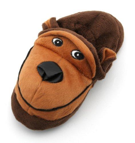 KS Brands - Zapatillas de estar por casa para niña marrón