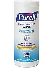PURELL, GOJ911112EA, Textured Sanitizing Wipes, 100 / Each, White